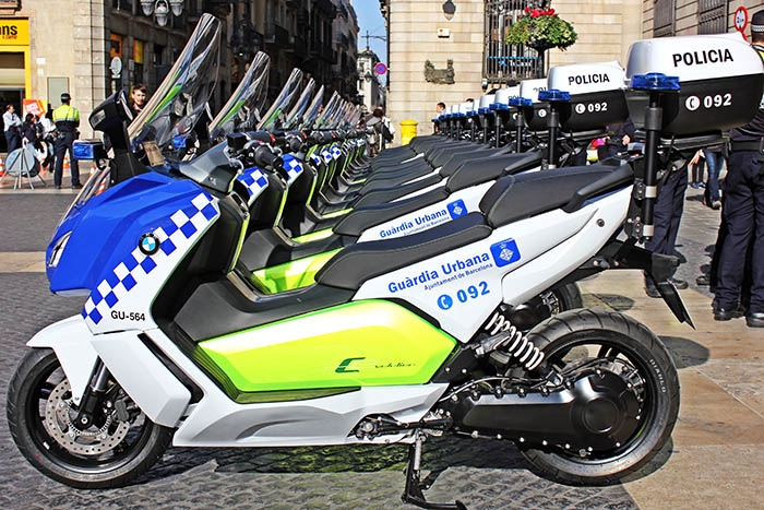 016 BMW C evolution Polizei Barcelona kl