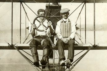 Glenn H. Curtiss on right